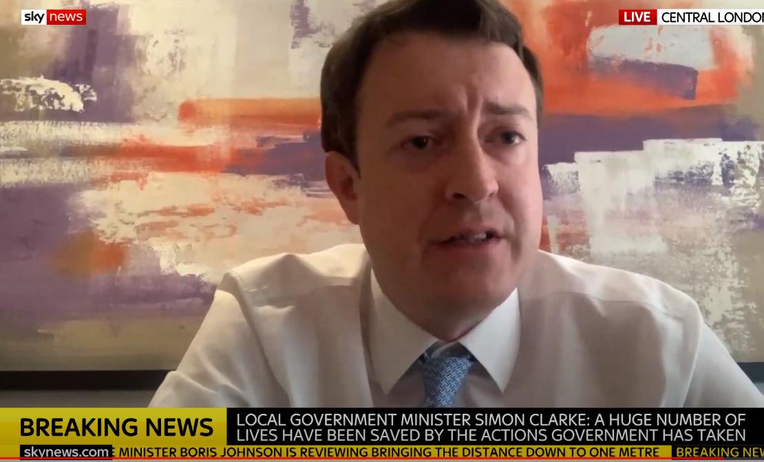 Local Government minister Simon Clark