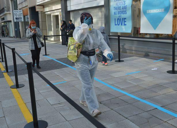 Englands shops reopen today - Primark shopper in full PPE