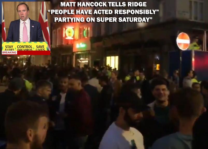 Matt Hancock tells sophy Ridge people have acted responsibility