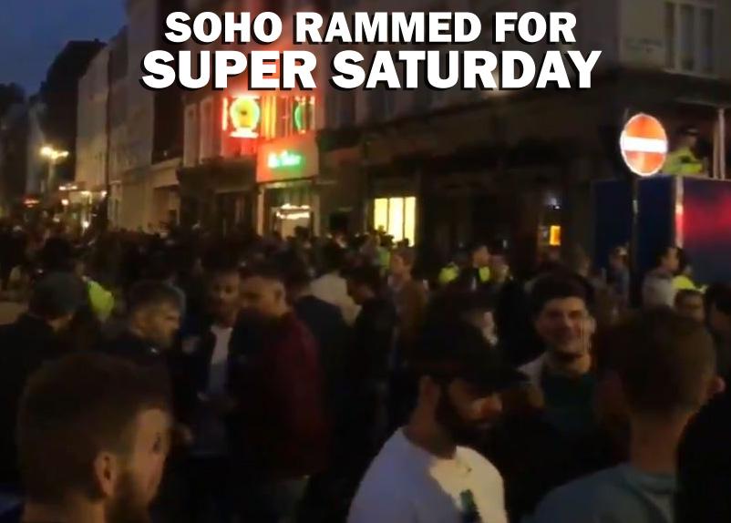 Soho evening super Saturday 4th July 2020 title