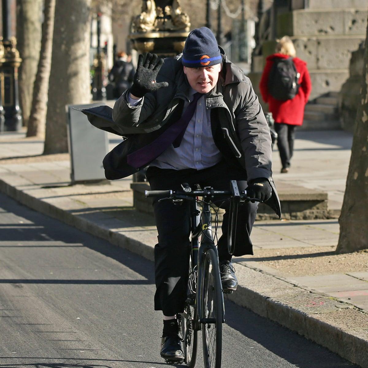 boris on a bike in london