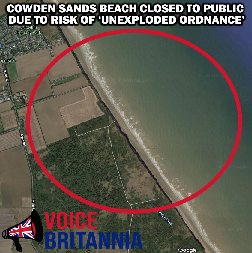 cowden beach unexploded ordnance title