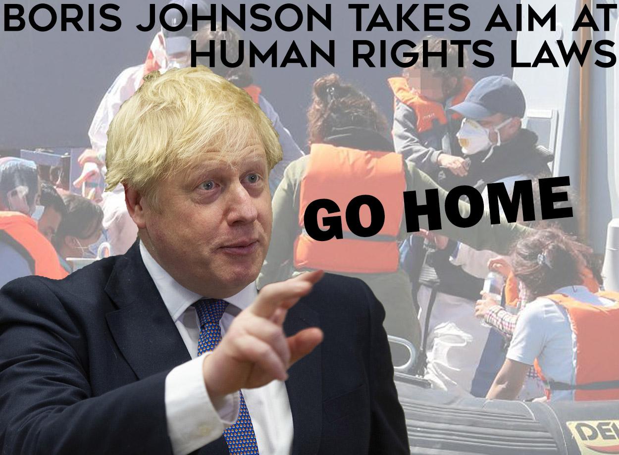 boris johnson takes aim at human rights laws