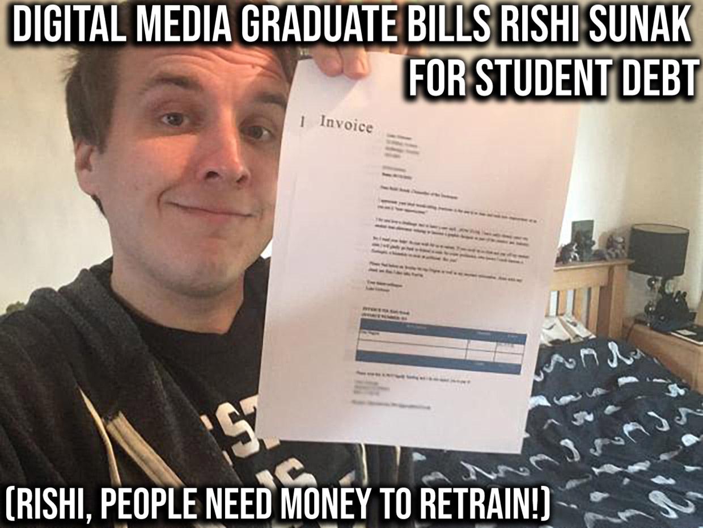 digital media graduate bills student for 40k debt