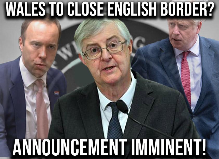 wales to close english border mark drakeford
